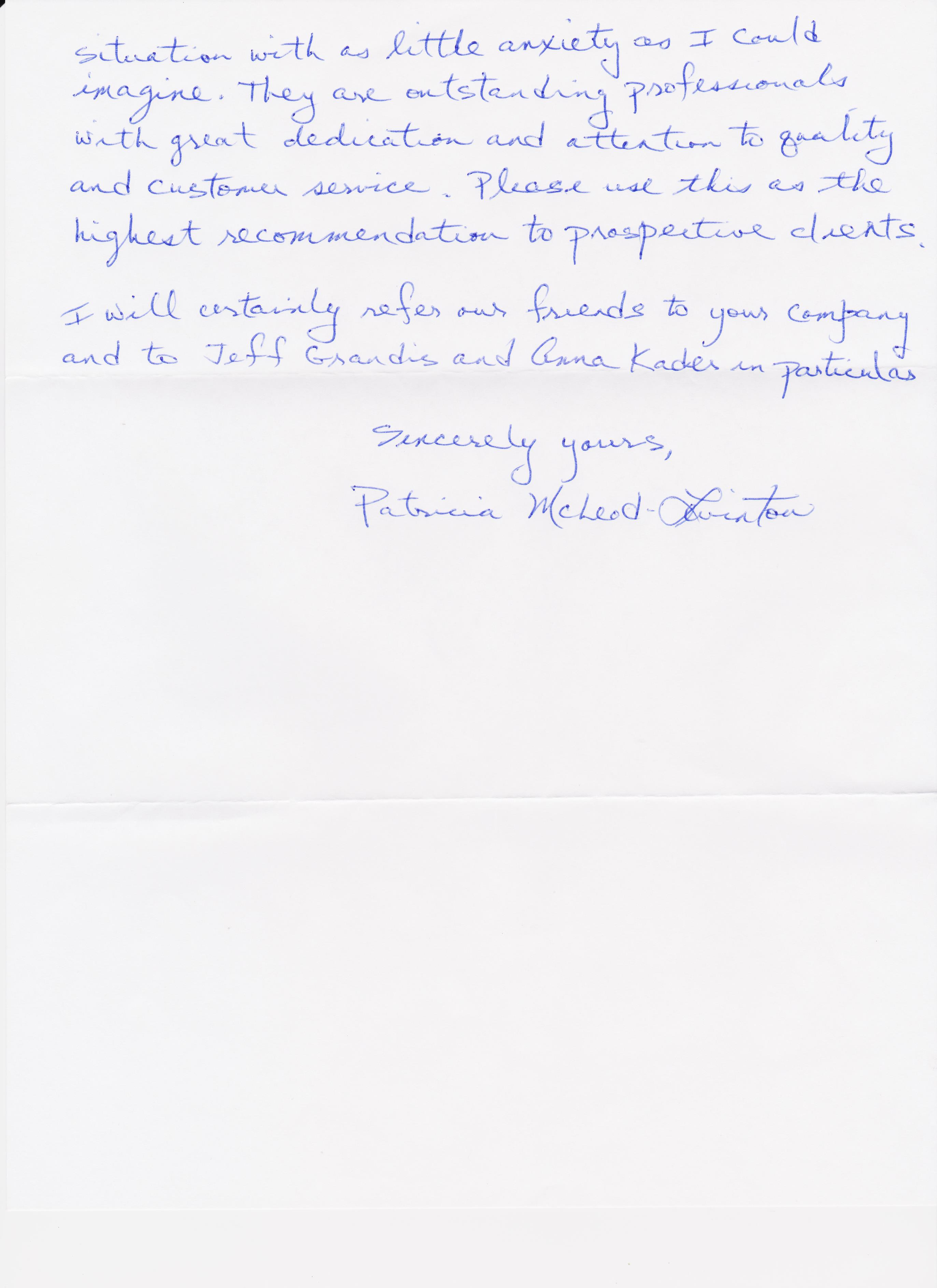 Testimonial Letter from Levinton- pg2of2